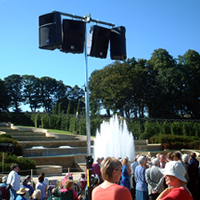 EV Speaker array at The Alnwick Garden