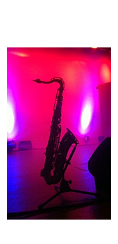 backlit saxophone